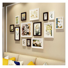 Pastoral Style Wooden Photo Frame Wall 14 pcs Cheap Set Creative Combination Picture