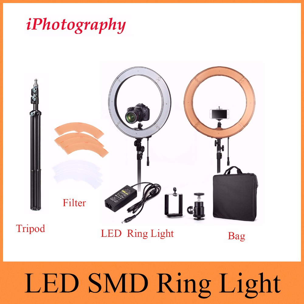 ES240 LED Ring Light for Camera Photo/Studio/Phone/Video Photography Photographic Lighting Dimmable Lamp&2M Light Stand Tripod