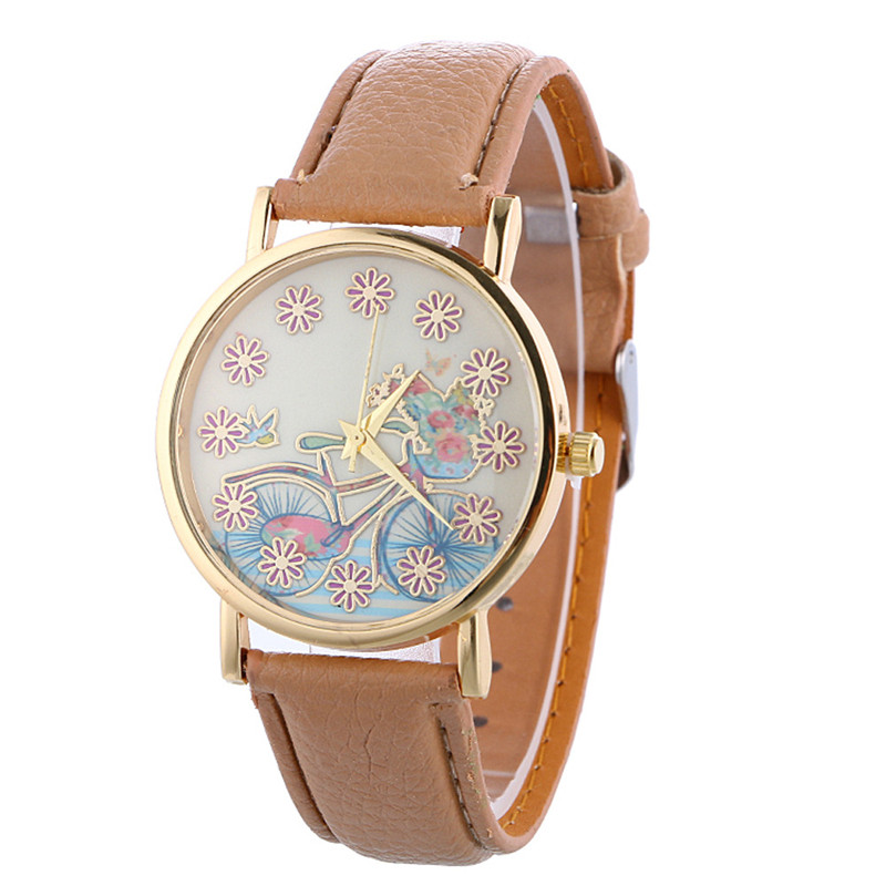 10 color Women Bracelet Watch Fashion Casual Womens Leather Quartz Clock relojes mujer 2016