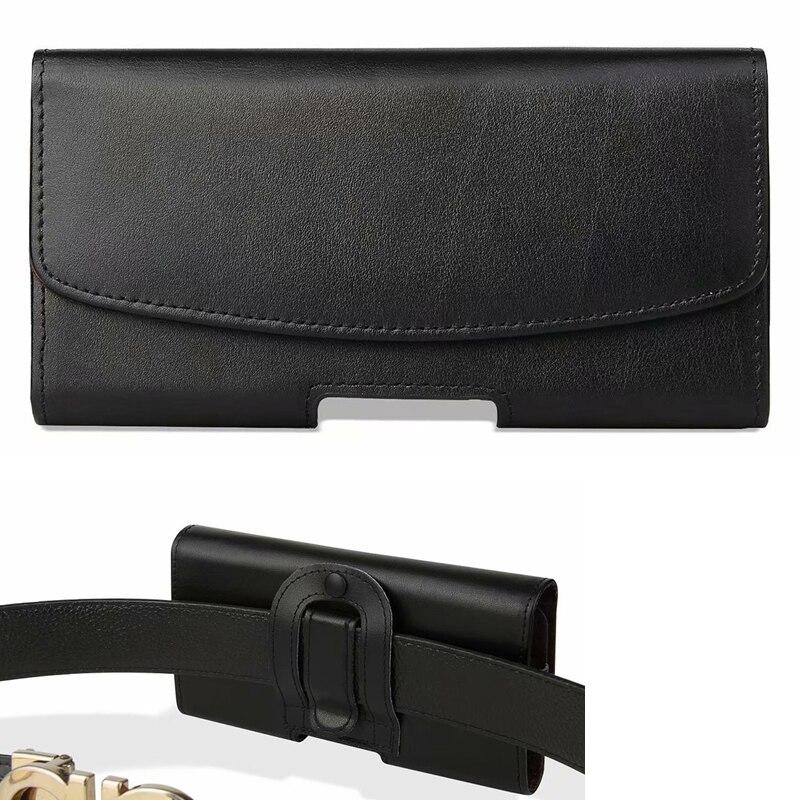 Clip da cintura Cassa Del Cuoio Genuino Del Sacchetto Per HTC Esodo 1, il Desiderio di 12 s, Doogee X60 X80 X60L, leagoo T8S S10 M11, Per Motorola di Un Potere