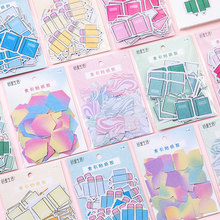 DIY Diary Sticke Colorful mini Gradient Color Self-Adhesive N Times Indexes Memo Pad Sticky Notes Bookmark School Office Supply today s list cartoon n times self adhesive memo pad sticky notes bookmark school office supply