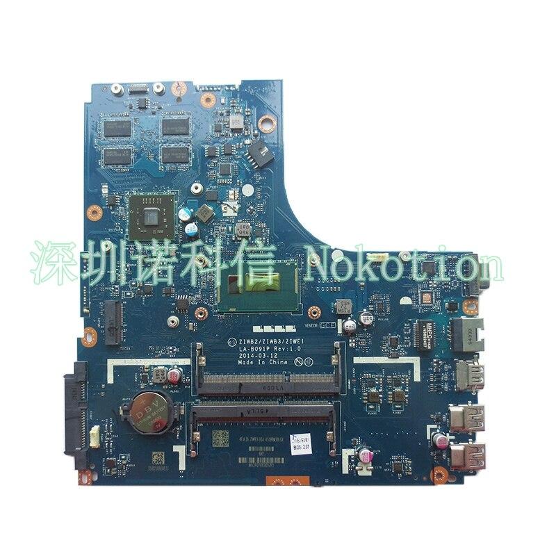 NOKOTION Laptop Motherboard for Lenovo B50-70 ZIWB2/ZIWB3/ZIWE1 LA-B091P I5-4210U DDR3L Mainboard works