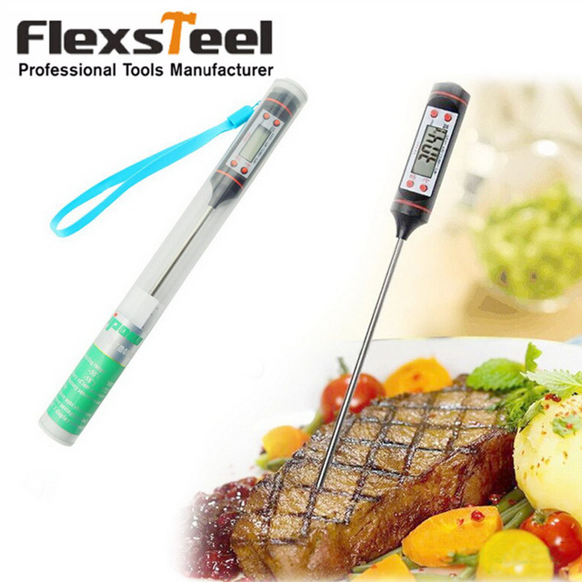 digital instant read thermapen kitchen grill bbq cooking thermometer probe for food meat wine jam steak