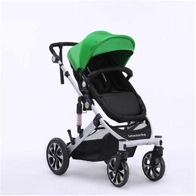 Poussette carrinho de quatro rodas carrinho de bebê super Leve cadeiras de rodas Dobrável Amortecedores Carro Guarda-chuva Acessórios Troller