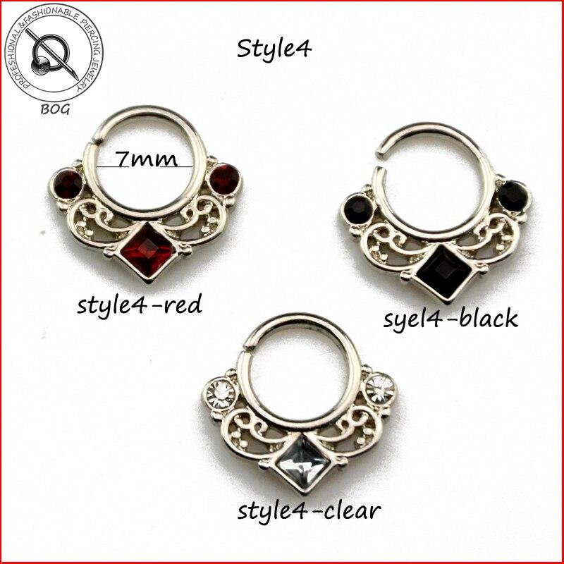 Malena veličina 1 komad pravi rukav prsten probušen piercing Septo - Modni nakit - Foto 4