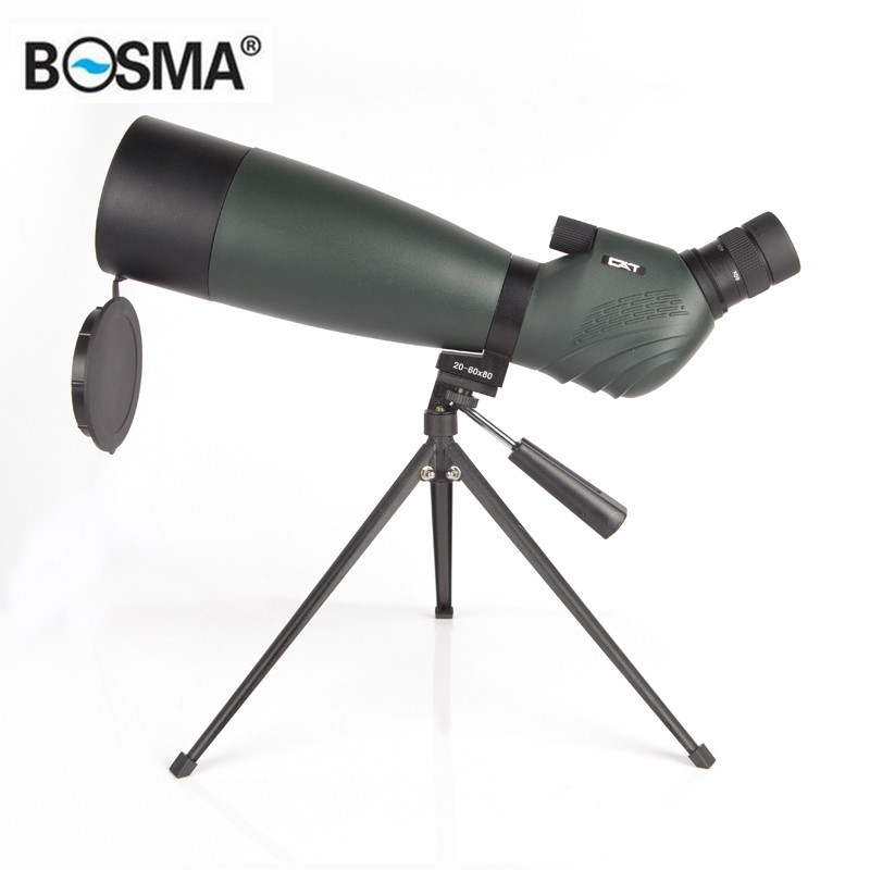 BOSMA CAT 20-60X80 Zoom Monocular HD BAK4 Optic Lens Wider Viewing Vision Hunting Camping Bird Watching Spotting Scope Telescope original boshile high power 15 75x25 mini zoom monocular pocket flexible focus zoom telescope for camping dy007