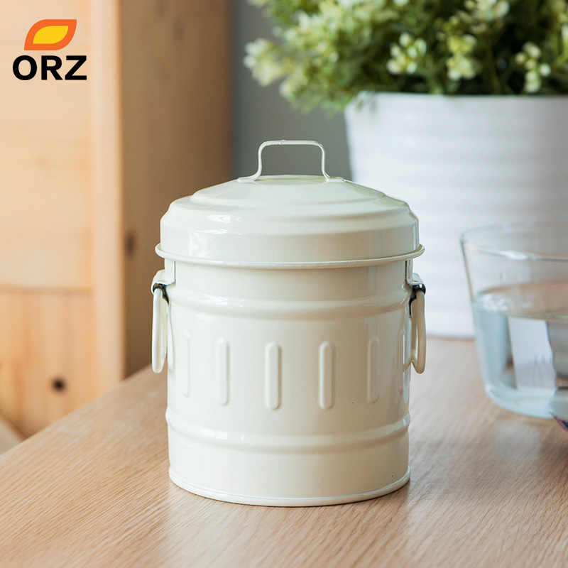 ORZ Mini Storage Box Roman Pattern Sundries Candy Snack Can Home Organizer Case Desktop Storage Bin Cookie Biscuit Container Can