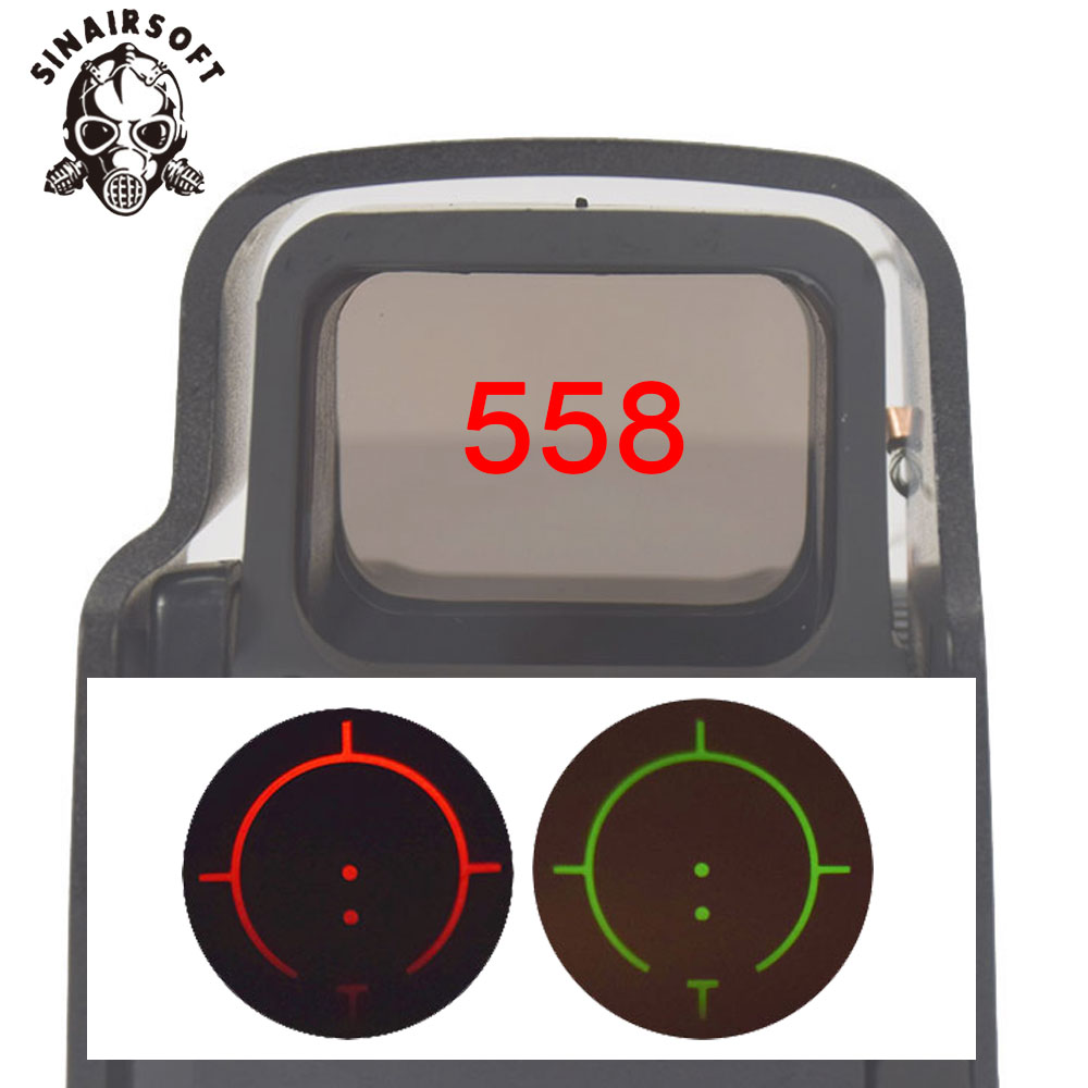 Tactical <font><b>558</b></font> Collimator Holographic Sight <font><b>Red</b></font> <font><b>Dot</b></font> Optic Sight Reflex Sight with 20mm Rail Mounts For Airsoft&Hunting image