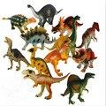 12 unids/set Dinosaur World Juego Jurásico Juguetes Niños Niños Modelo de Dinosaurio De Plástico Figuras de Acción con la Caja de Empaquetado
