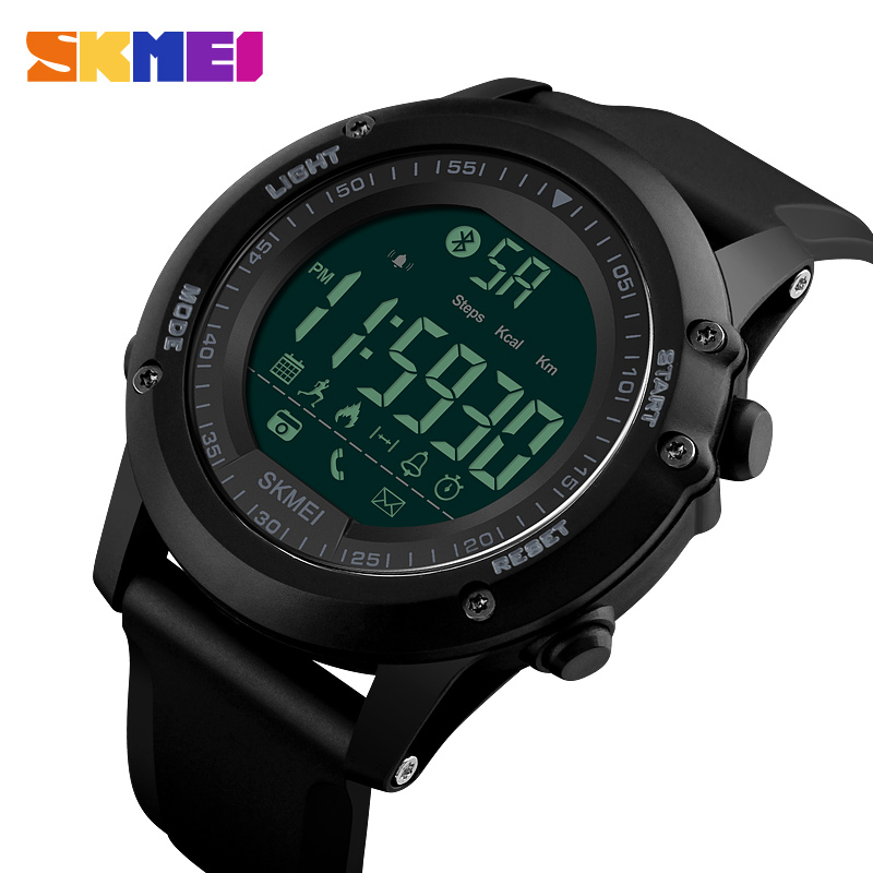 <font><b>SKMEI</b></font> Brand Men Sports Watches Pedometer Multifunctional Relojes Waterproof Relogio Masculino LED Digital Wristwatches image