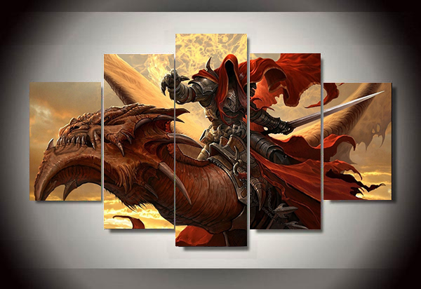 Unframed 5 piece magic movie painting wall art childrens room decor poster canvas Free shipping