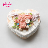 Romantic Heart Shape Rose 3D Silicone Mold For Handmade Jewelry Box Wedding Party Souvenir Fondant Cake