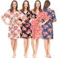 Las nuevas Mujeres del Verano Floral Trajes 4 Colores Pijama de Algodón Para Camisas De Maternidad De Enfermería Las Mujeres Embarazadas Camisón Sexy Vestido Impreso