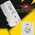 RCD выключатель питания розетка 220В 13А безопасность Plug-In тест Сброс переключатель штепсельная вилка защита электрошок для приборов микро печ...
