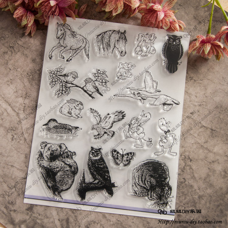 All kinds of animals Scrapbook DIY photo cards account rubber stamp clear stamp seal kid transparent silicone gift stamps colorful christmas hot air balloon scrapbook diy photo cards account rubber stamp clear stamp seal kid transparent silicone gift
