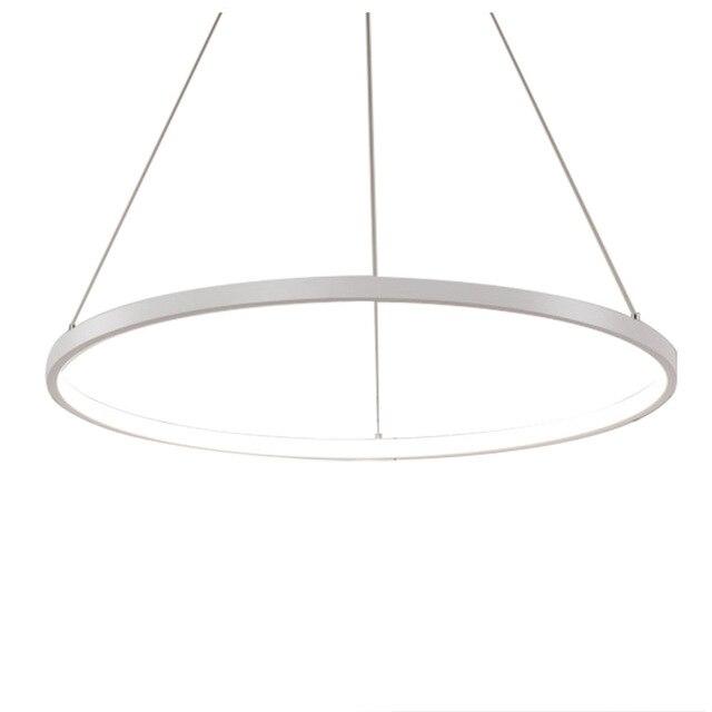 Dsha Hot 60cm Modern Led Acrylic Round Pendant Chandelier Ceiling Lamp Lighting Light