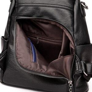 Image 5 - Fashion 2018 Women Backpack Youth Leather Vintage Backpacks for Teenage Girls Female School Bag Bagpack mochila sac a dos