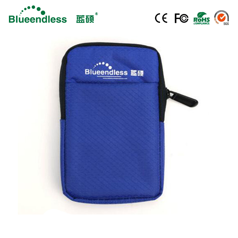 Blueendless New Product 2.5 Inch HDD Protection Box Bag Case for External Portable HDD Portable Hard Drive Bag цена