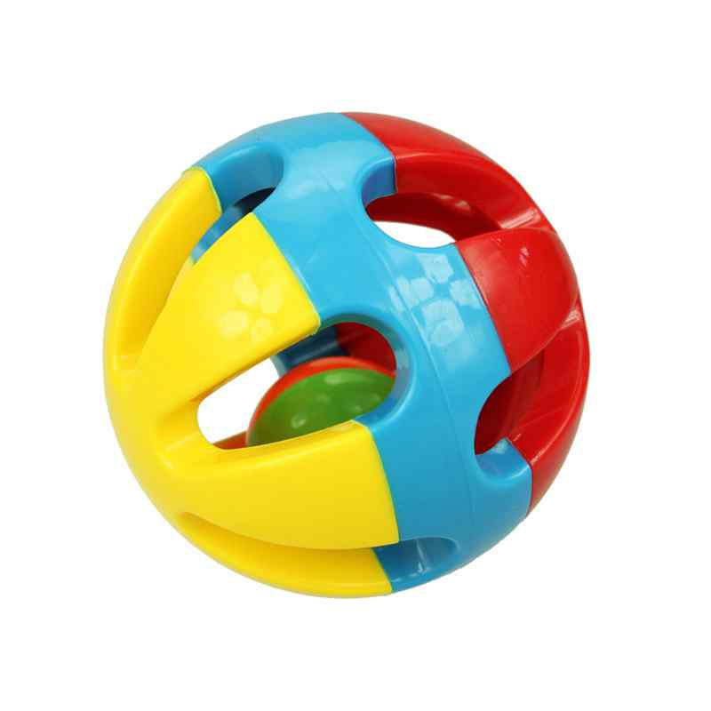 Color Animal Baby Ball Hand Catch Toy Rattles Develop Babys Tactile Senses Toy for 0-3 Years Old Baby Touch Hand Ball Toys