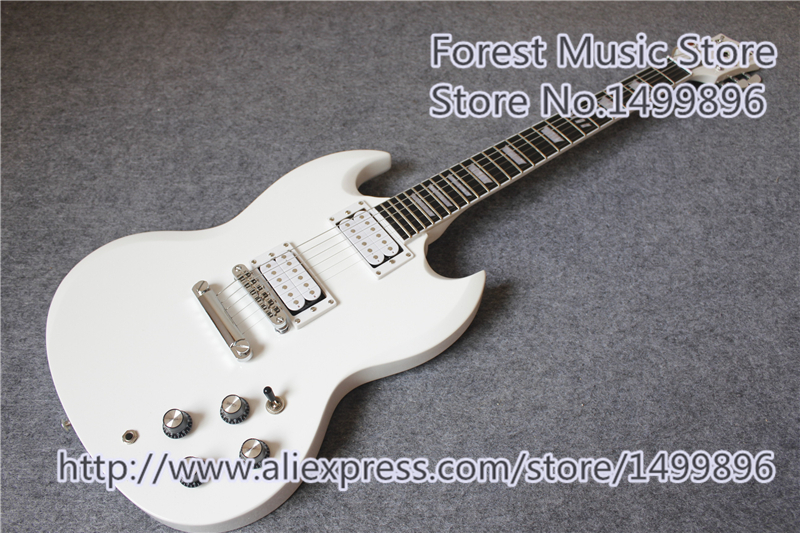 Chinese Glossy White Finish SG Electric Guitars With Rosewood Fingerboard For Sale new arrival chinese glossy white sg electric guitars with mahogany body and neck guitar for sale