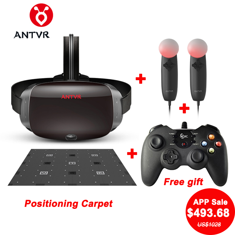 ANTVR 2 т Kit2 2 К PC VR гарнитура 3D шлем VR очки контроллеры 9 шт. позиционирования ковер конкурентом для htc Vive VR 3D очки