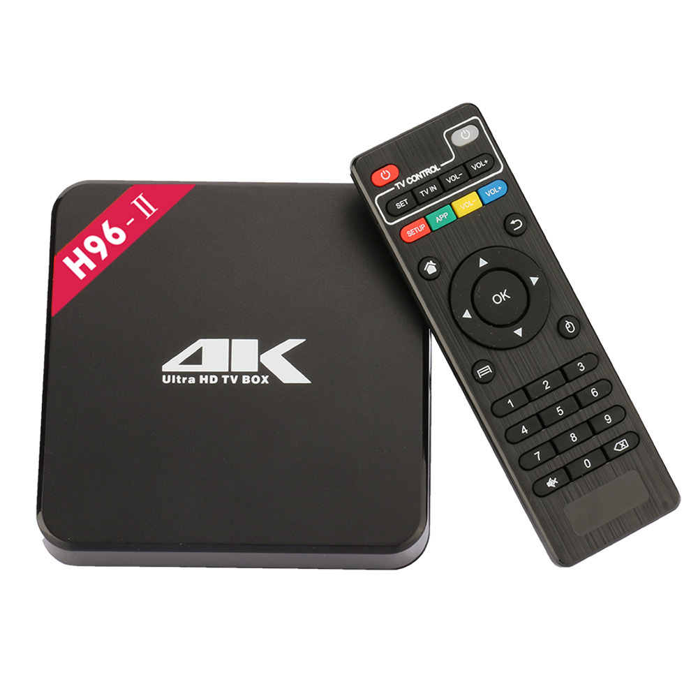 Android Smart TV Box H96-II 2G/16G Android 7.1 Amlogic S905X Quad Core CPU TV Box Bluetooth 4.0 5G Wifi 4K H.265 Set Top Box newest h8 android 6 0 tv box amlogic s905x quad core cortex a53 2g 8g smart android tv box