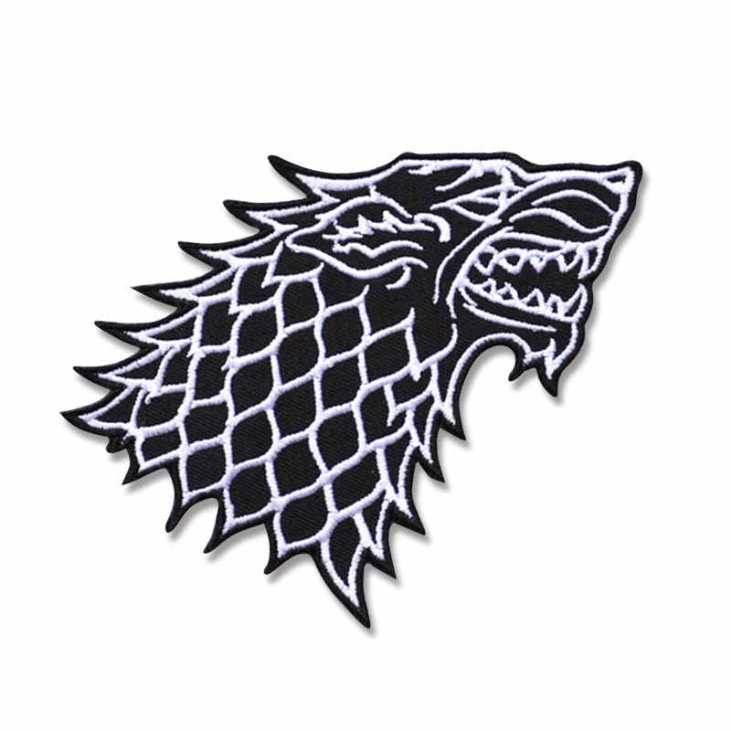 Dragon Game of Thrones Iron On Embroidered Clothes Patches For Clothing Boys Man Girl Punk Patch Badges wholesale