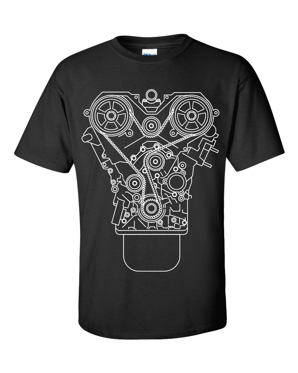 100% Cotton Brand New ENGINE DESIGN T-shirt Black S-3XL JDM Tuner Decal Mechanic Tool Garage Piston Summer Tee Shirt