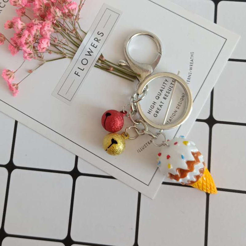 2019 New Cream Porte clef Women Fluffy Pompom Keychain llavero pom pom key chain Rabbit Fur Ball Bag Chaveiro sleutelhanger Pomp in Key Chains from Jewelry Accessories