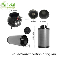 Grow Tent for 4 Inch Centrifugal Fans&Activated Carbon Air Filter for GreenHouse Grow Tent Hydroponic LED HPS/MH Grow Light