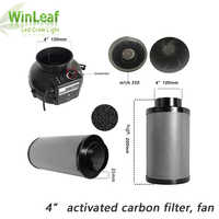 Grow Tent voor 4 inch Centrifugaal Fans & Activated Carbon Luchtfilter voor GreenHouse Kweektent Hydrocultuur LED HPS/ MH Groeien Licht