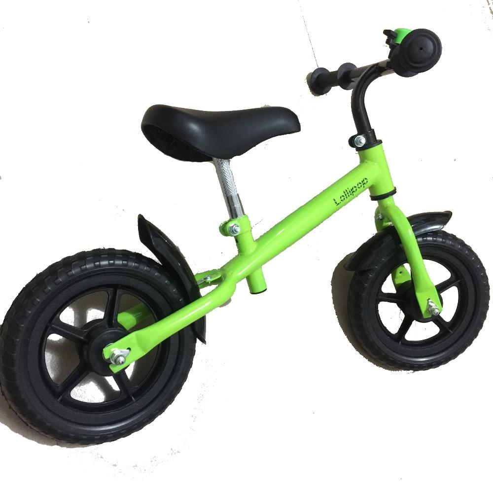 Nouveau 12 pouces Balance vélo en fibre de carbone roue rouge bleu jaune rose vert enfant vélo cadre en acier de haute qualité