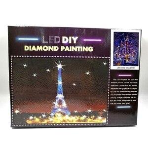 Image 5 - AZQSD peinture en diamant panoramique, cadre lumière LED, cadre, cadre, perceuse ronde 5D, ensemble complet de peinture murale, mosaïque bricolage soi même