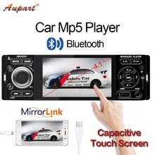 Авторадио 1 Din 4 дюйма автомобиль радио 1din Сенсорный экран Mp3 Mp5 мультимедийный плеер универсальный авто аудио Bluetooth fm-емкостный Экран