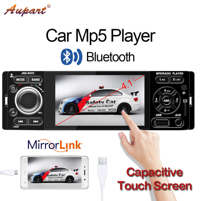 autoradio 1 Din 4 inch Car radio 1din Touch Screen Mp3 Mp5 Multimedia player universal auto audio Bluetooth FM Capacitive screen