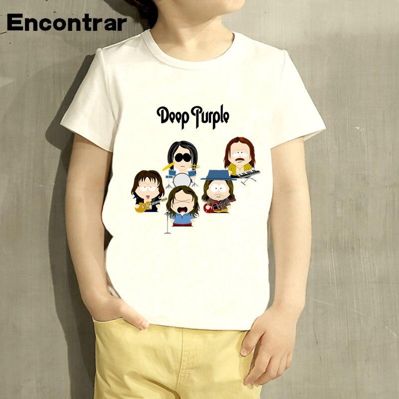 Kids Deep Purple In Rock England Music Design Baby Boys/Girl TShirt Kids Funny Short Sleeve Tops Children Cute T-Shirt,HKP4416
