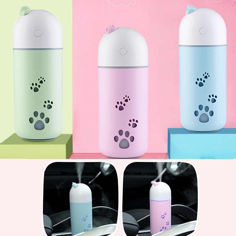Mobil Udara Humidifier USB Lucu Hewan Peliharaan Humidifier Rumah Bisu Kreatif Mobil Mini Air Purifier Pink Kuning Biru