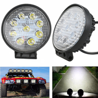 2pcs 4 Inch 27W LED Work Light Floodlight 12V 24V Round LED Offroad Light Lamp Worklight