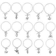 HENGSHENG 15 PCS Bracelet Sets Pearl Oyster Fitting with 1 PC Real Oval Pearl in Pendant(China)