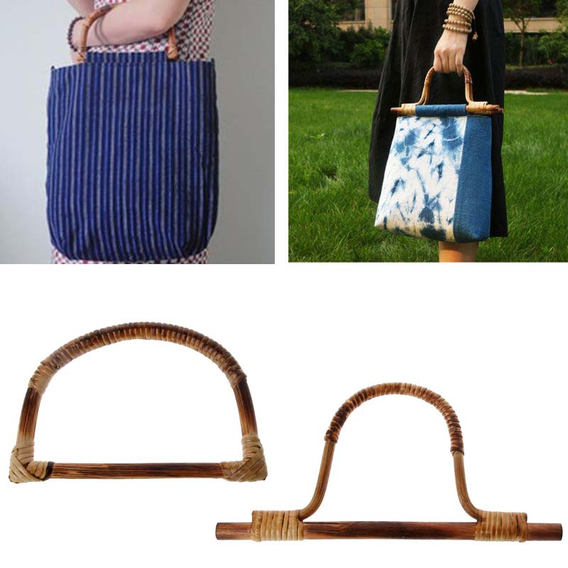 1 X D U Shape Bamboo Bag Handle For Handcrafted Handbag DIY Bags Accessories Good Quality