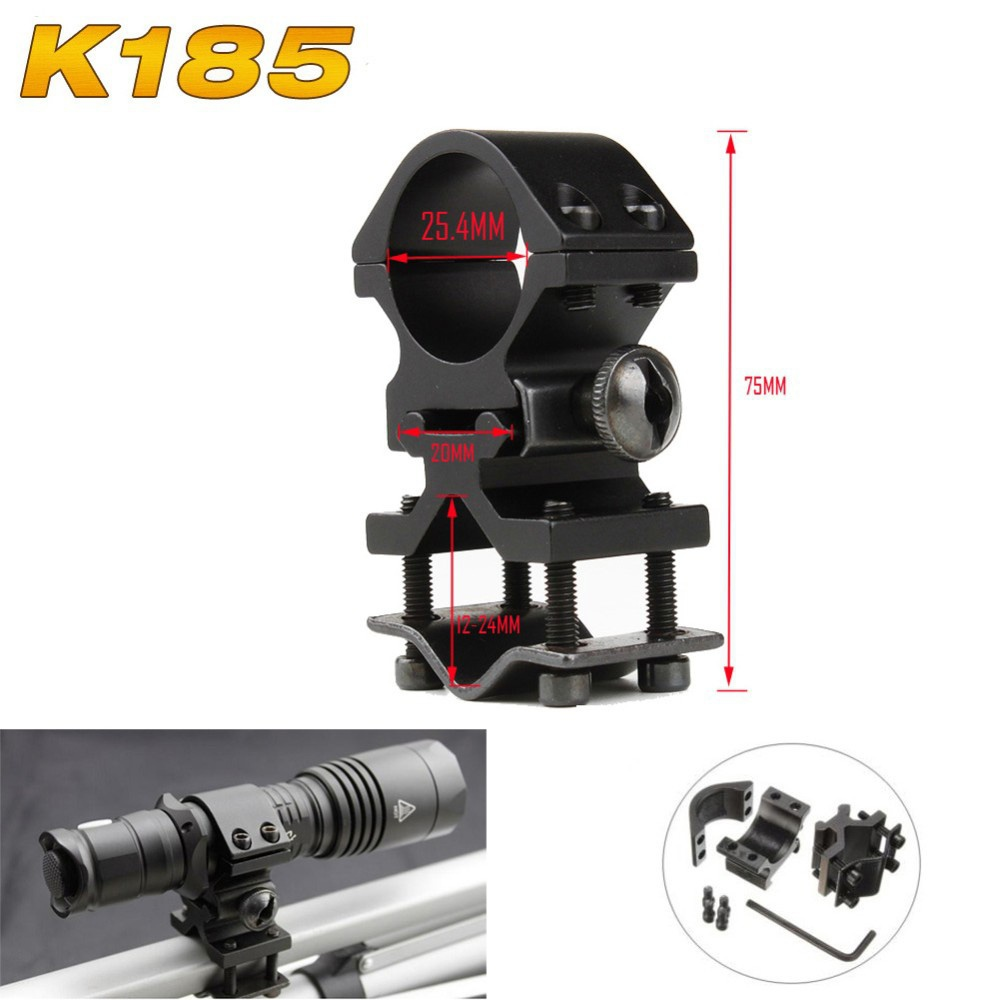 EDC GEAR Universal Mount Adapter Aluminum Alloy Flashlight Laser Torch Sight Scope Clamps Outdoor Hunting Camping tool