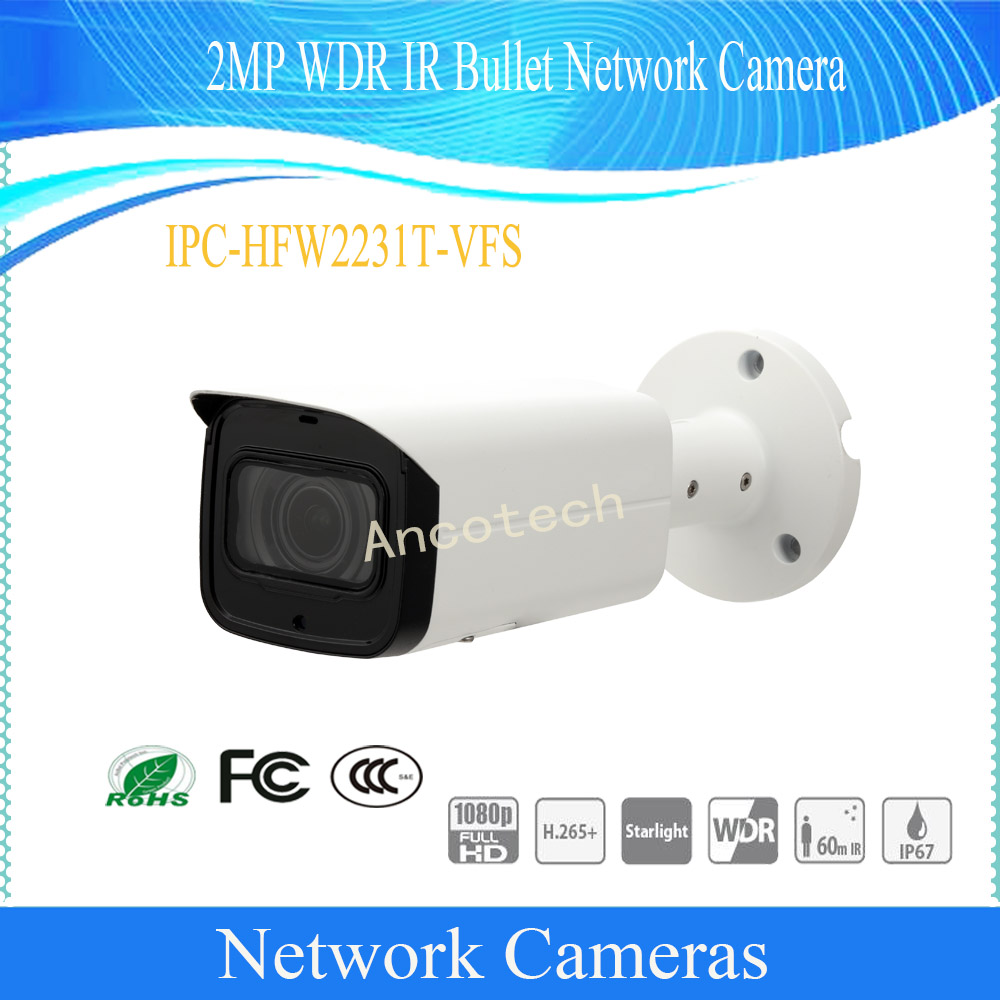 DAHUA Security CCTV IP Camera 2MP WDR IR Waterproof Bullet Network Surveillance Outdoor Camera With POE IP67 DH IPC HFW2231T VFS