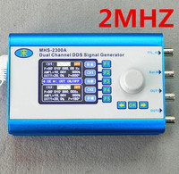 MHS2300A 2MHZ Dual Channel CNC DDS Function Signal Generator Arbitrary Waveform Sine Square Triangle Waveform