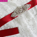 XW49 Free shipping Hand made rhinestone crystal bridal belt wedding accessories wedding accessories belt bride