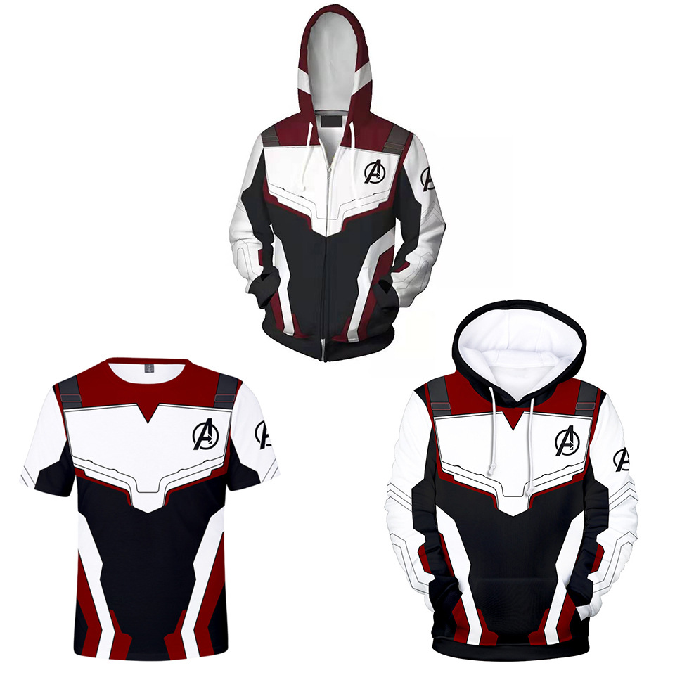 2019 Avengers Endgame Quantum Realm Sweatshirt Jacket Advanced Tech Hoodie Cosplay Costumes  Superhero Iron Man Hoodies Suit