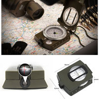 Best Quality army compass,Camping Survival Compass Military Sighting Luminous Lensatic Waterproof Compass
