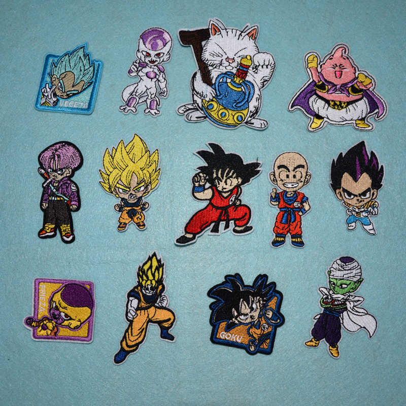 Yicai 1 PCS DRAGON BALL carton patch iron patches for clothing