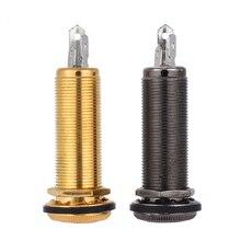 6,35 мм 1/4 дюйма концевой штырь Endpin Jack разъем моно выход медный материал для акустической электрогитары