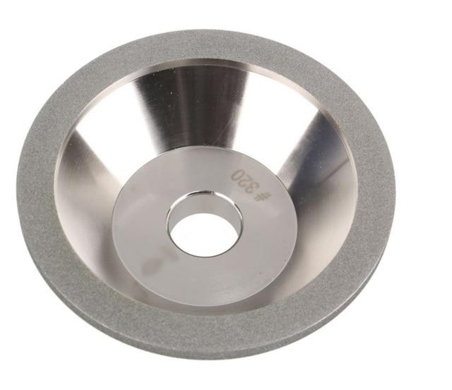1 pc 320 grain galvanoplastie revêtement diamant meule meule 100mm à lextérieur Dia 20mm ID pour moudre le carbure et lacier dur