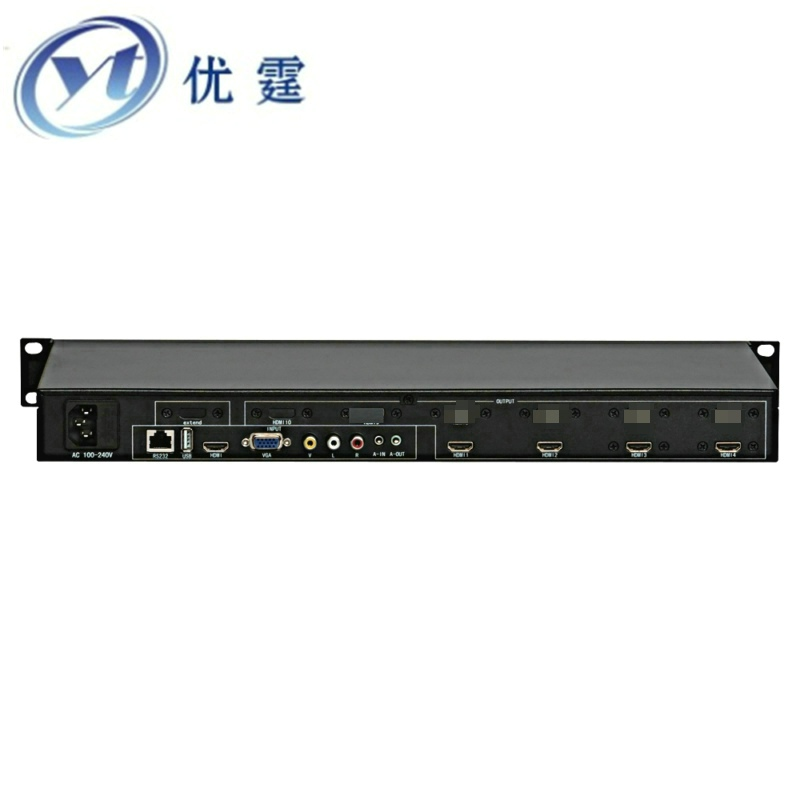YOUTING YT BOX1X4 Video Wall Controller HDMI VGA AV USB Processor 1X4 FOUR images stitching image